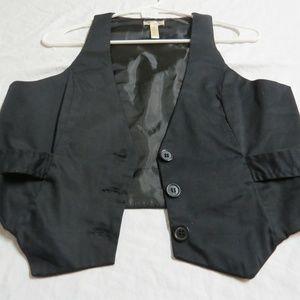 Sz M Black JUNIORS Stretch Cotton #78F Suit Vest